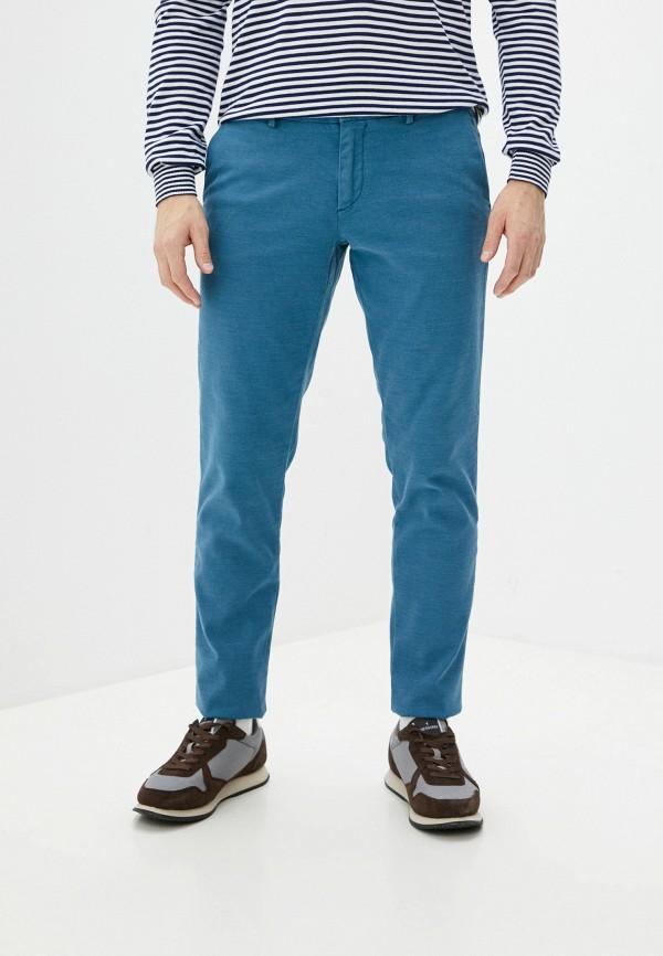 мужские повседневные брюки trussardi, бирюзовые