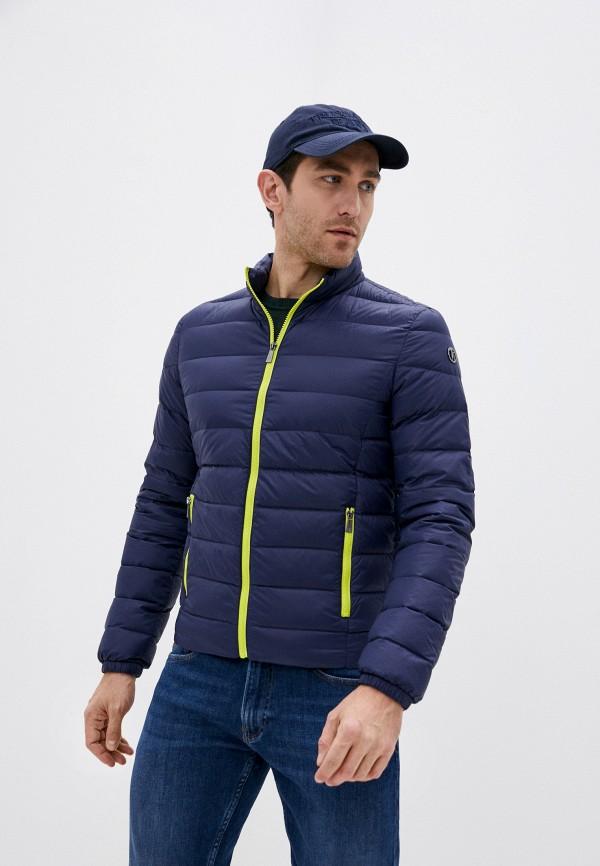 мужская куртка trussardi, синяя