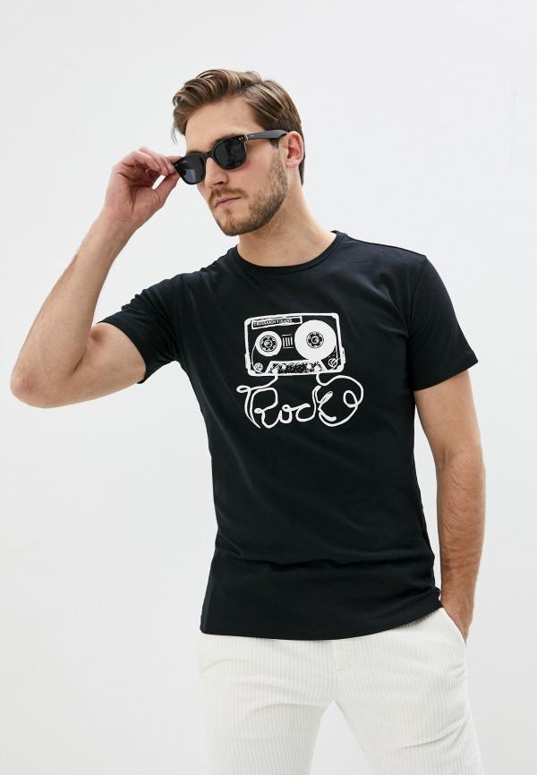 мужская футболка trussardi, черная