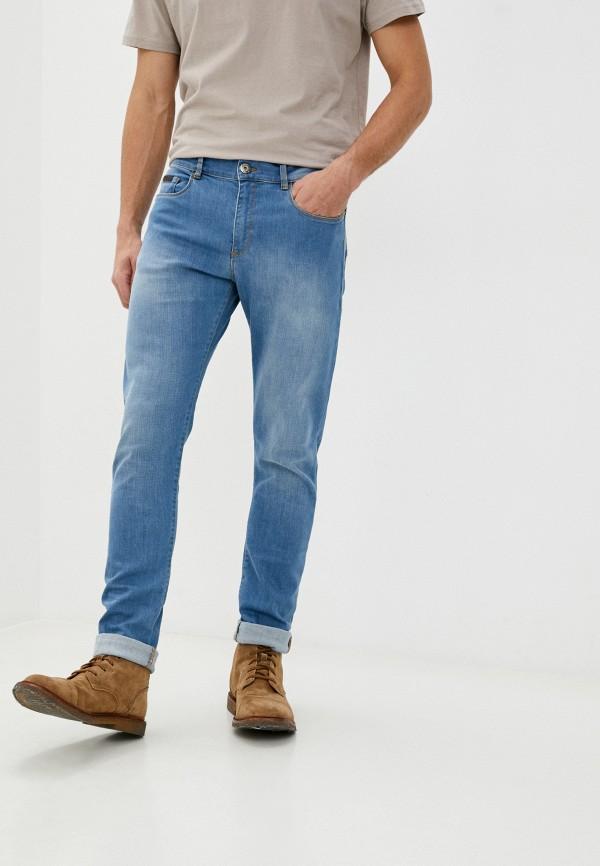 мужские зауженные джинсы trussardi, голубые