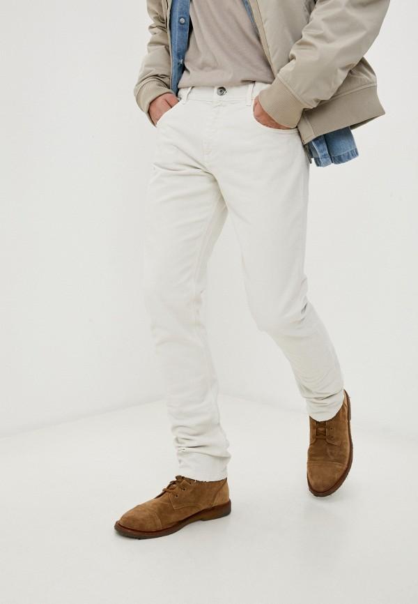 мужские зауженные джинсы trussardi, белые
