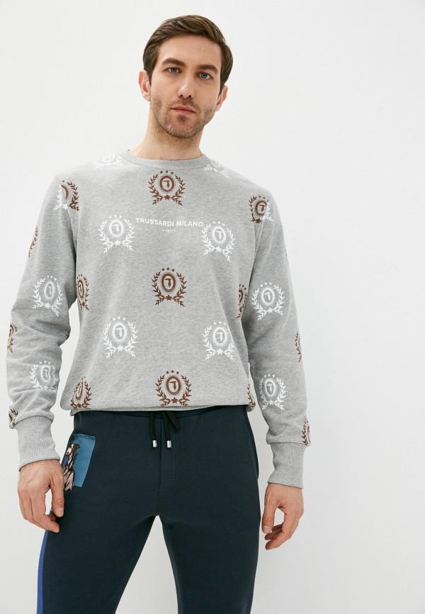 мужской свитшот trussardi, серый