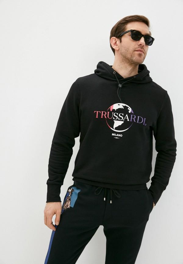 мужские худи trussardi, черные