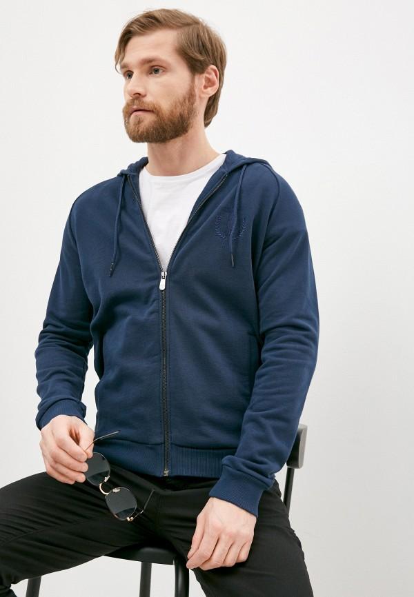 мужская толстовка trussardi, синяя