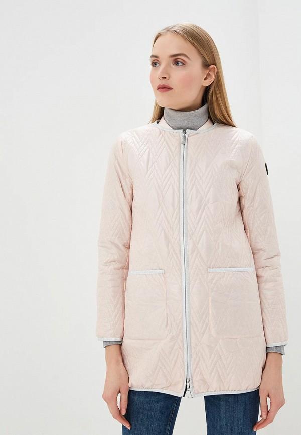женская куртка trussardi, розовая