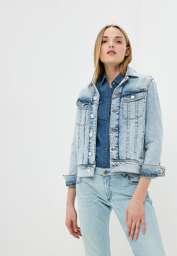 Куртка джинсовая Trussardi Jeans Trussardi Jeans TR016EWDOCG7 куртка утепленная trussardi jeans trussardi jeans tr016emdobw5