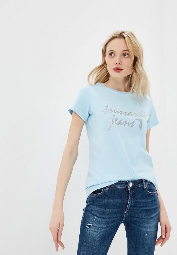 цена Футболка Trussardi Jeans Trussardi Jeans TR016EWDOCH7 онлайн в 2017 году