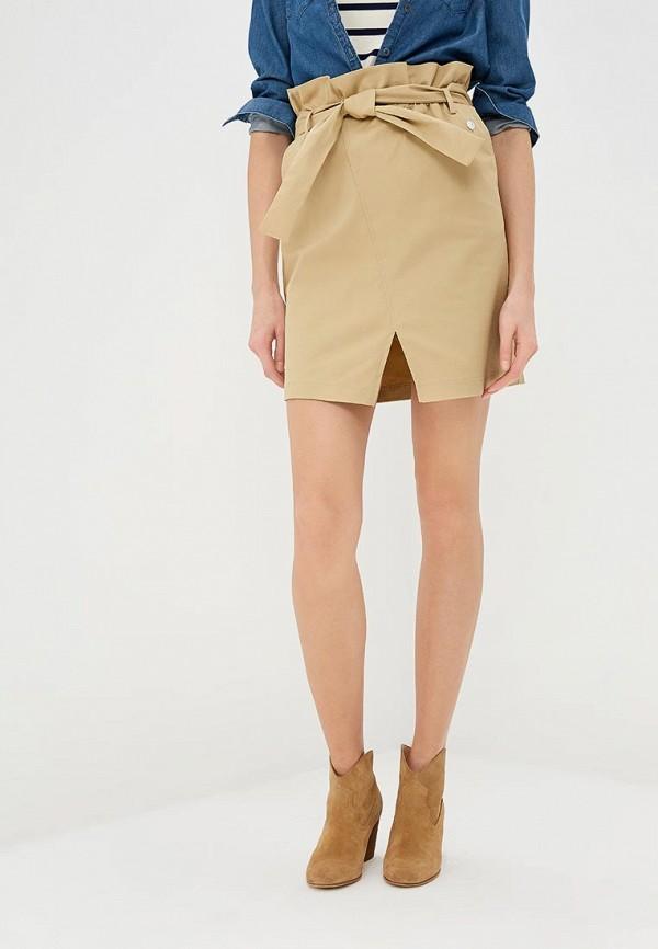 Купить Женскую юбку Trussardi Jeans бежевого цвета