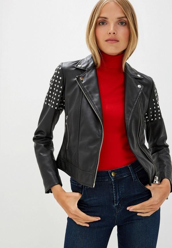 цена Куртка кожаная Trussardi Jeans Trussardi Jeans TR016EWFTBQ9 в интернет-магазинах