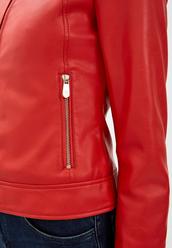 Фото 5 - Куртку кожаная Trussardi Jeans красного цвета