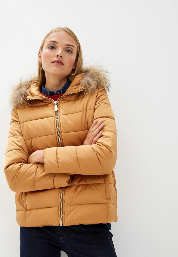 Фото - Куртку утепленная Trussardi Jeans бежевого цвета