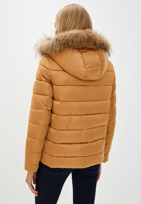 Фото 3 - Куртку утепленная Trussardi Jeans бежевого цвета