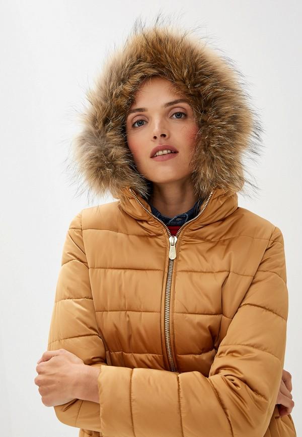 Фото 5 - Куртку утепленная Trussardi Jeans бежевого цвета