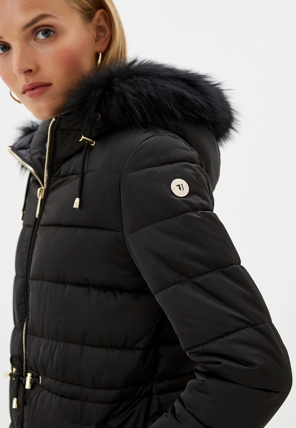 Фото 5 - Куртку утепленная Trussardi Jeans черного цвета