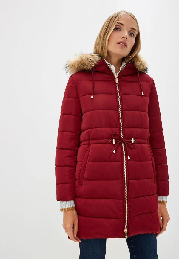 Фото - Куртку утепленная Trussardi Jeans бордового цвета