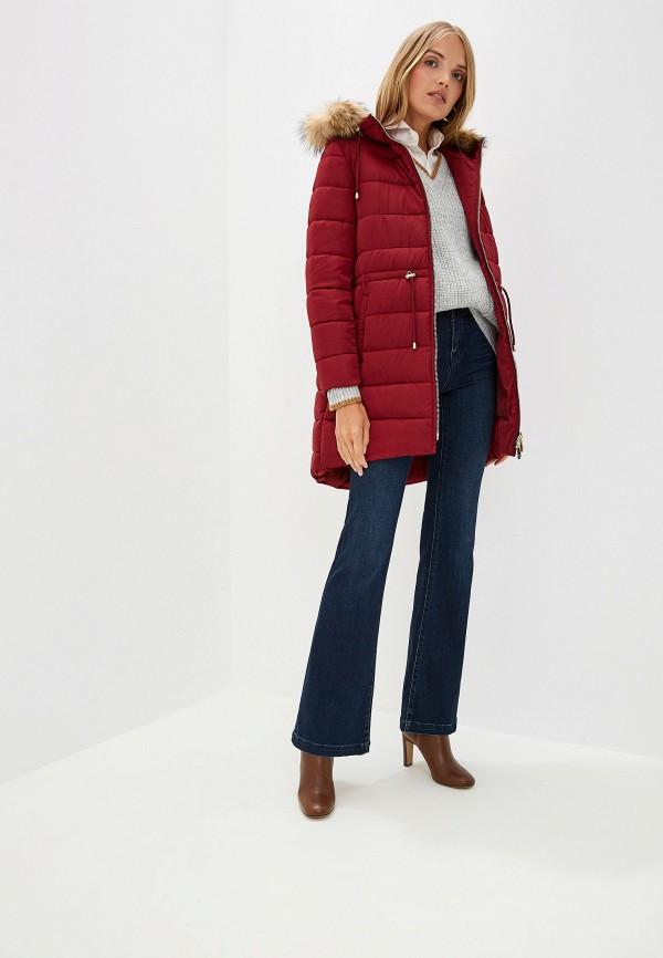 Фото 2 - Куртку утепленная Trussardi Jeans бордового цвета