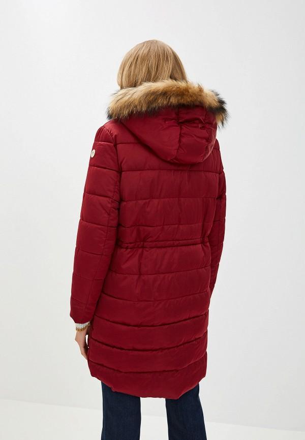 Фото 3 - Куртку утепленная Trussardi Jeans бордового цвета