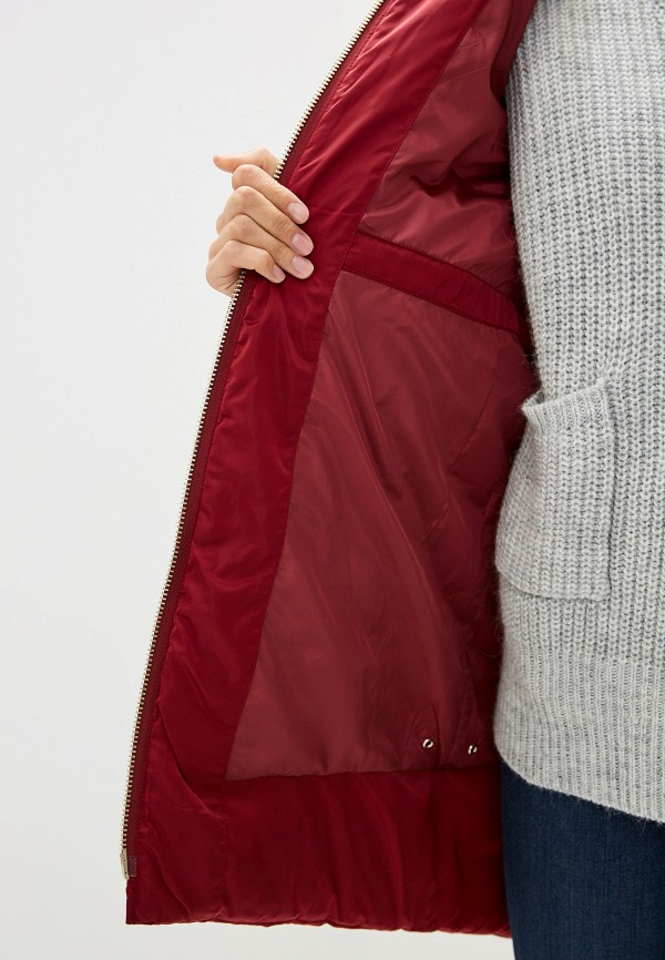 Фото 4 - Куртку утепленная Trussardi Jeans бордового цвета