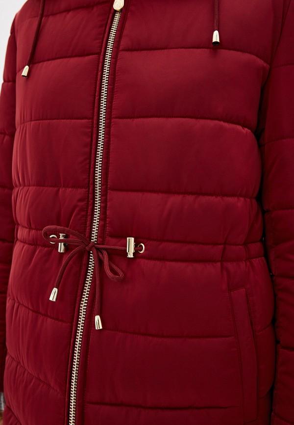 Фото 5 - Куртку утепленная Trussardi Jeans бордового цвета
