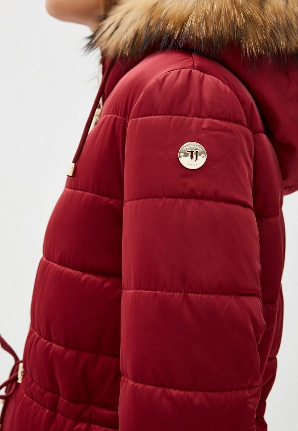 Фото 6 - Куртку утепленная Trussardi Jeans бордового цвета