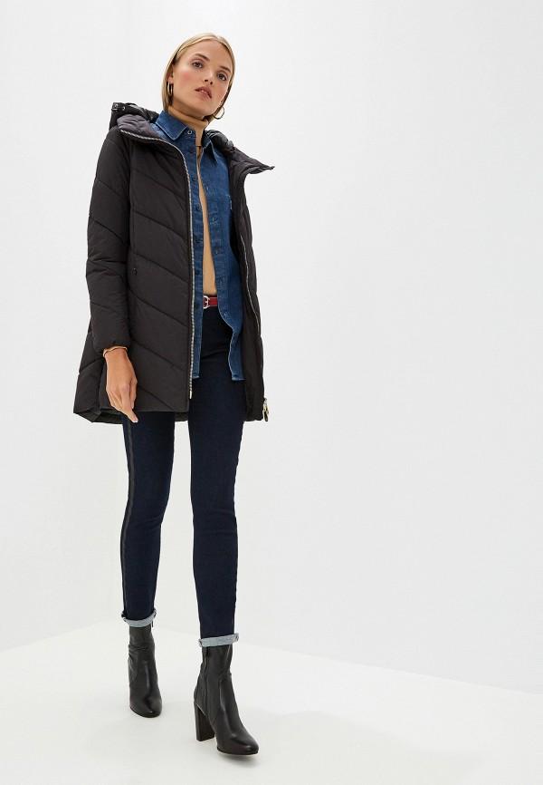 Фото 2 - Куртку утепленная Trussardi Jeans черного цвета