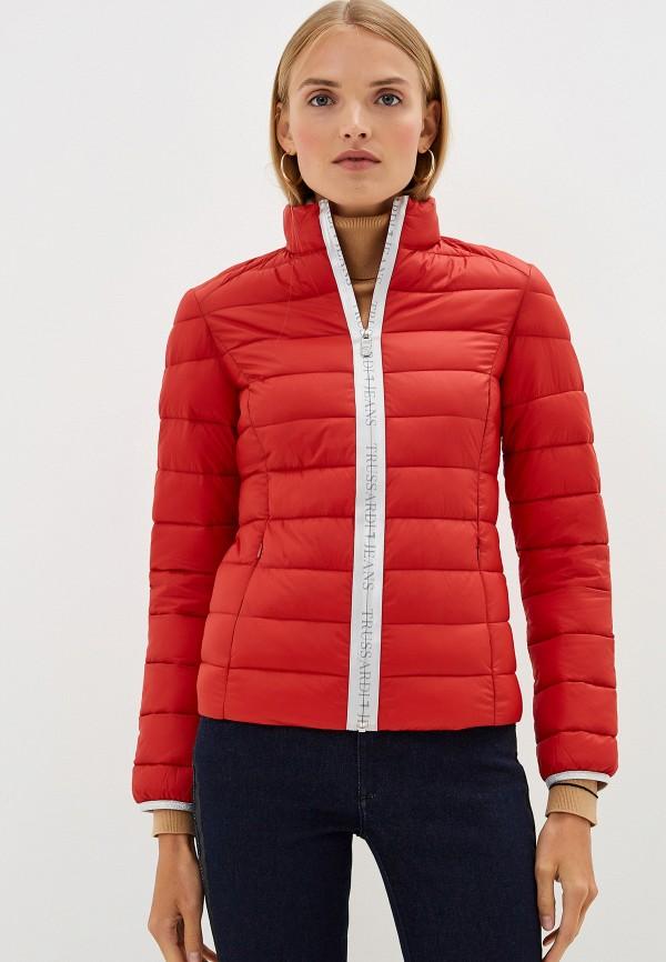 Фото - Куртку утепленная Trussardi Jeans красного цвета
