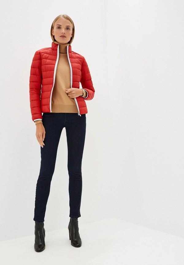 Фото 2 - Куртку утепленная Trussardi Jeans красного цвета