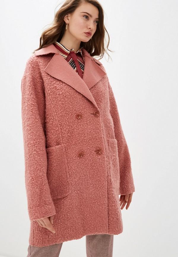 женское пальто trussardi, розовое