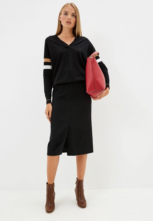 Фото 2 - женский пуловер Trussardi Jeans черного цвета