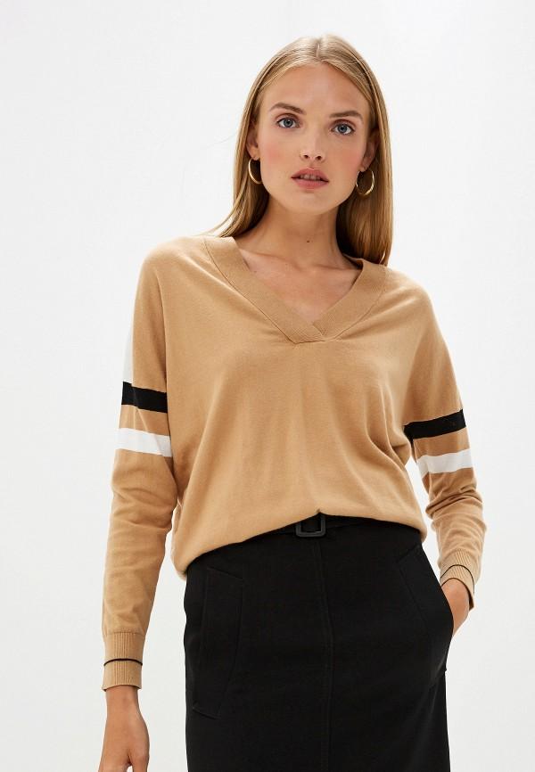 женский пуловер trussardi, бежевый