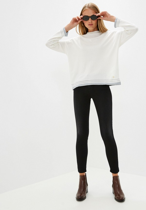 Фото 2 - женский джемпер Trussardi Jeans белого цвета