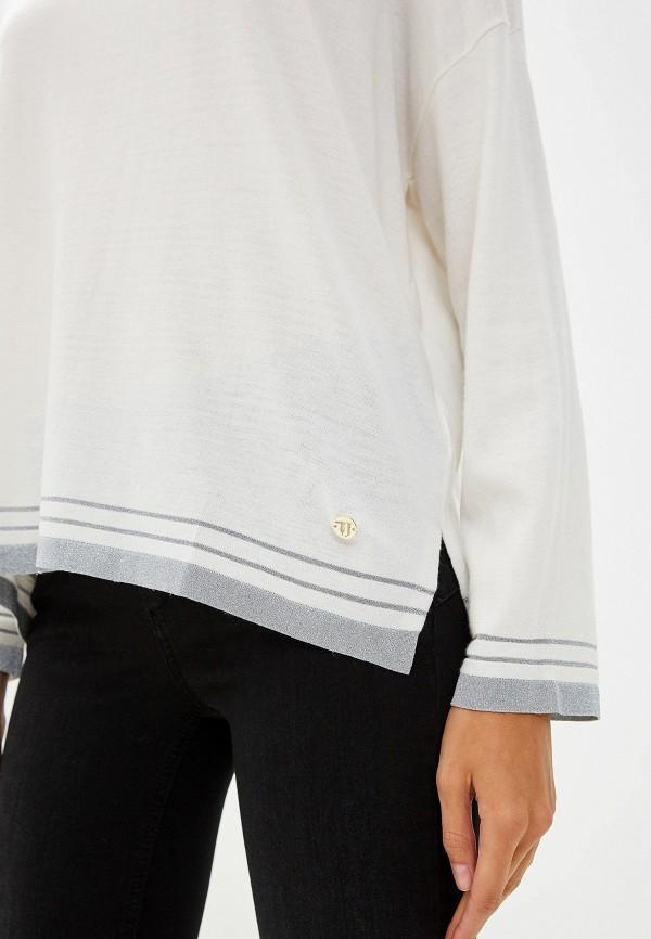 Фото 4 - женский джемпер Trussardi Jeans белого цвета