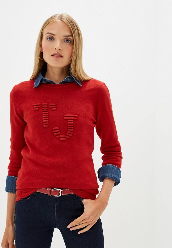Фото - женский джемпер Trussardi Jeans красного цвета