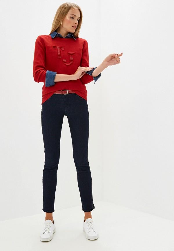 Фото 2 - женский джемпер Trussardi Jeans красного цвета