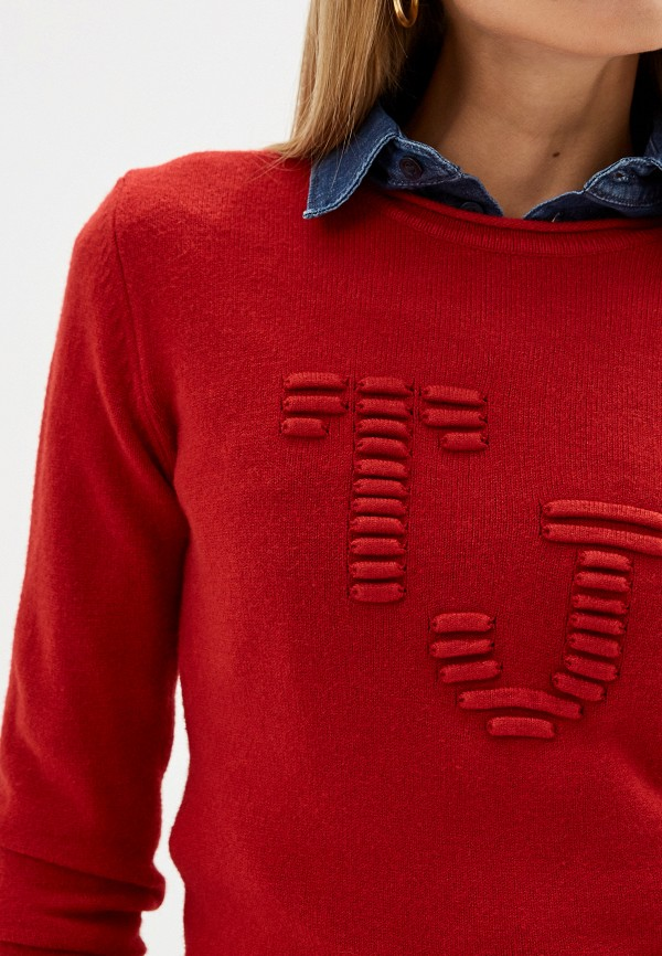 Фото 4 - женский джемпер Trussardi Jeans красного цвета