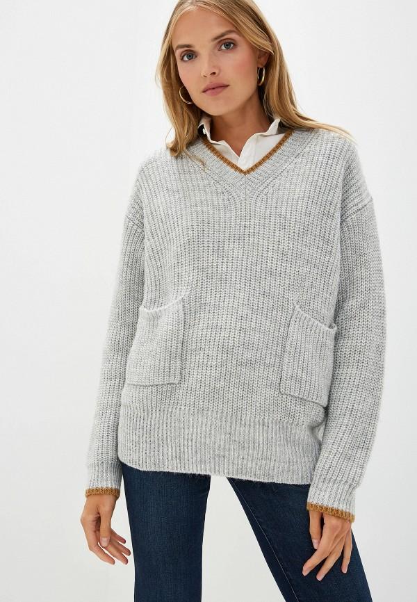 Фото - женский пуловер Trussardi Jeans серого цвета