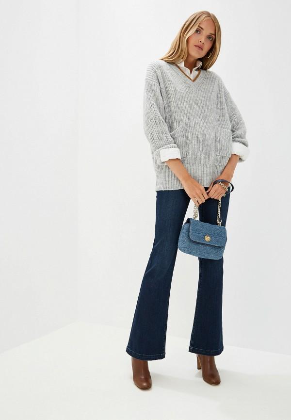 Фото 2 - женский пуловер Trussardi Jeans серого цвета