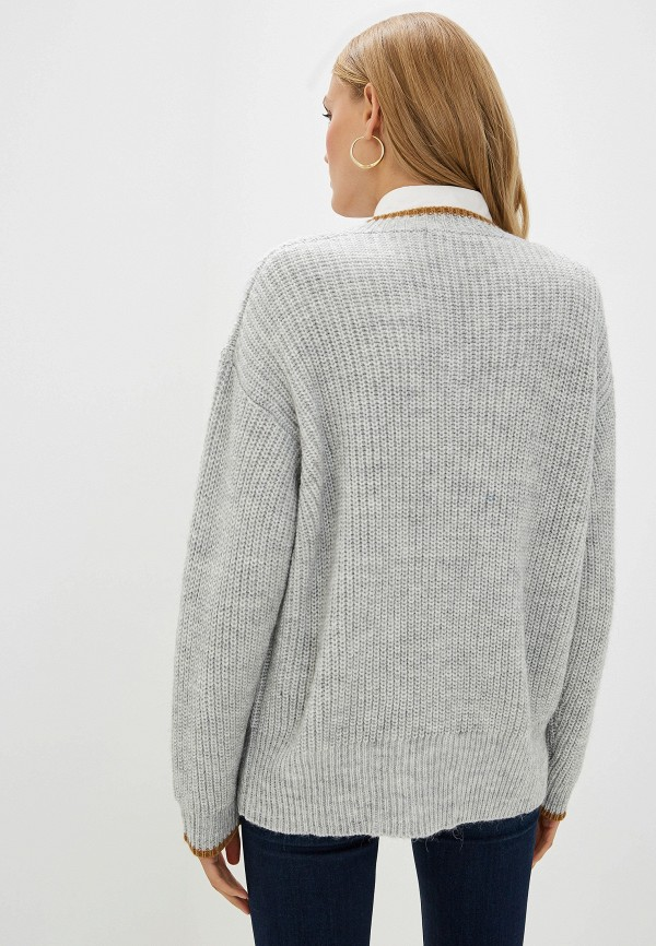 Фото 3 - женский пуловер Trussardi Jeans серого цвета