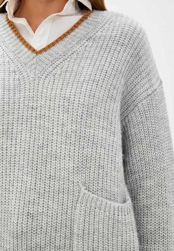 Фото 4 - женский пуловер Trussardi Jeans серого цвета