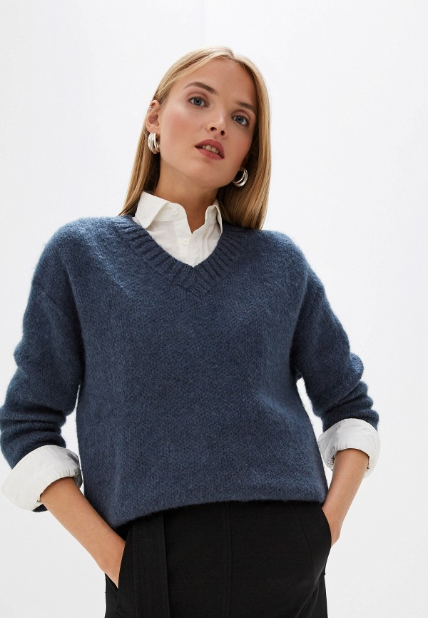 женский пуловер trussardi, синий