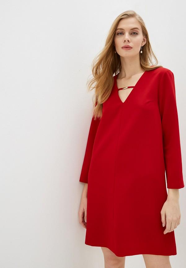женское повседневные платье trussardi, красное