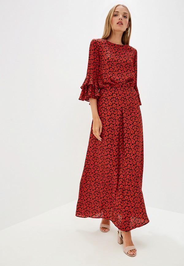 Фото - женское повседневное платье Trussardi Jeans красного цвета