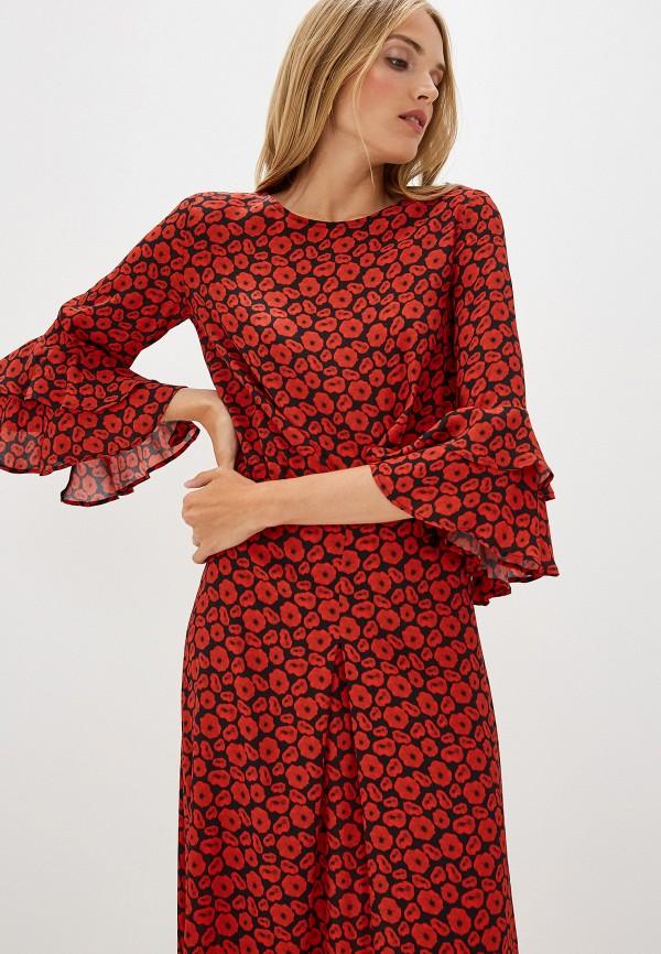 Фото 2 - женское повседневное платье Trussardi Jeans красного цвета