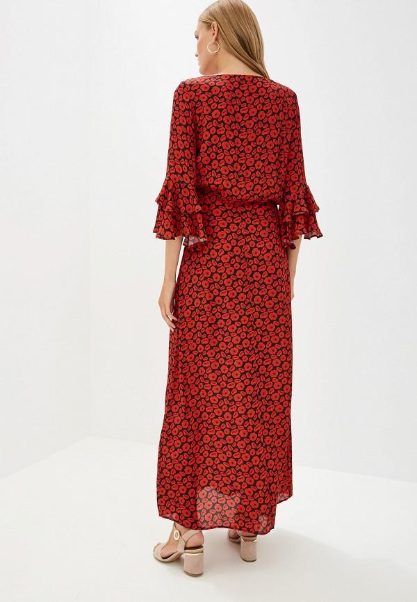 Фото 3 - женское повседневное платье Trussardi Jeans красного цвета