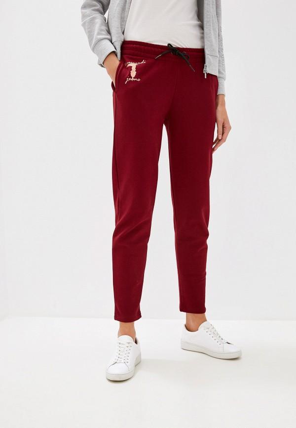 Купить Брюки спортивные Trussardi Jeans бордового цвета