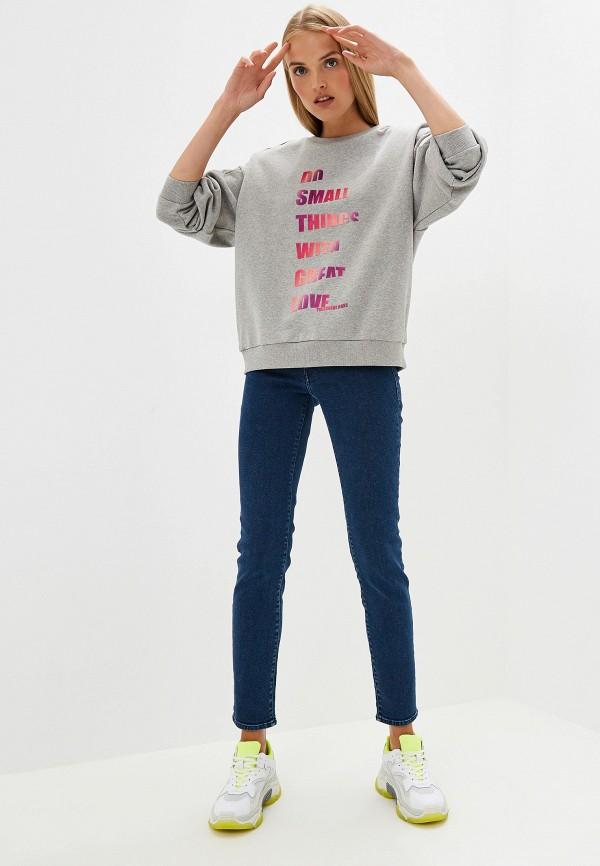 Фото 2 - Свитшот Trussardi Jeans серого цвета