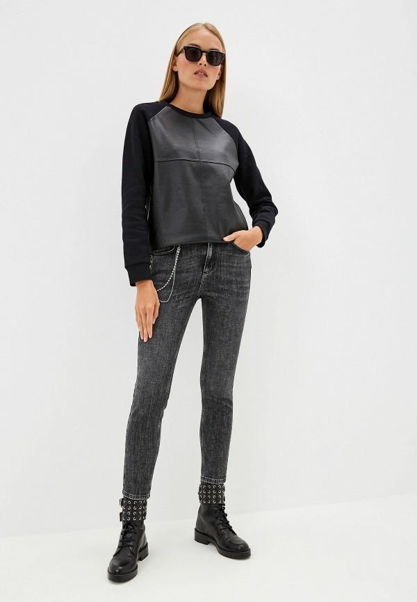 Фото 2 - Свитшот Trussardi Jeans черного цвета