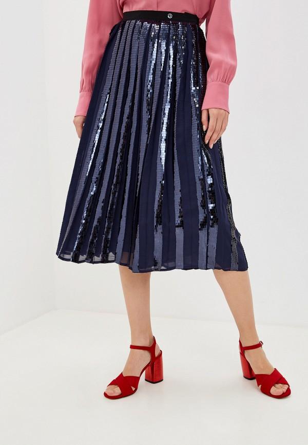 Купить Женскую юбку Trussardi Jeans синего цвета