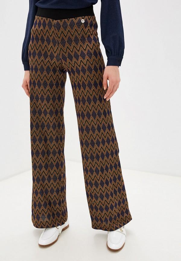 женские классические брюки trussardi, коричневые