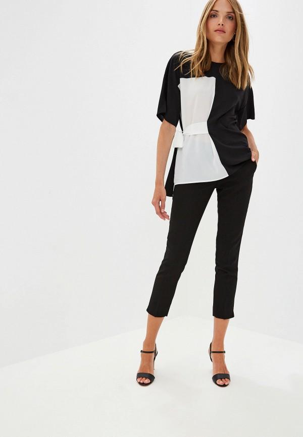 Фото 2 - женские брюки Trussardi Jeans черного цвета